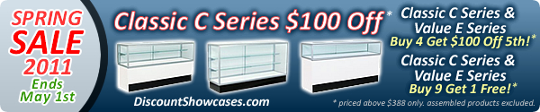 Display Cases for Sale, Wholesale Showcases